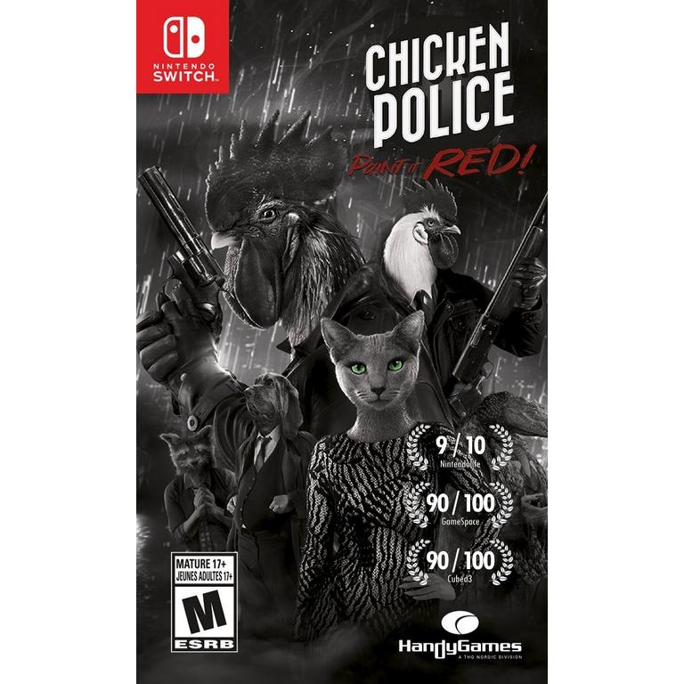 Preorder Chicken Police - Paint it Red Only at GameStop Nintendo Switch Games THQ Nordic GameStop