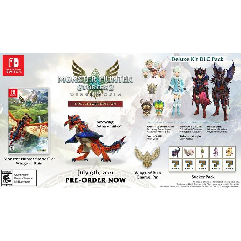 Preorder Monster Hunter Stories 2: Wings of Ruin Collector's Edition Nintendo Switch Games Capcom GameStop