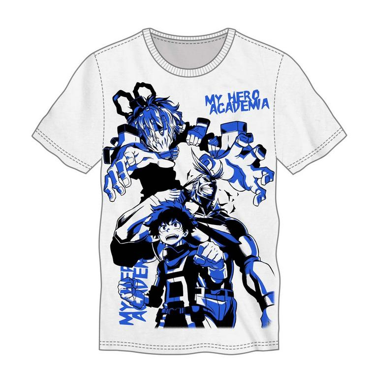 My Hero Academia Hero and Villain Print Mens T-Shirt