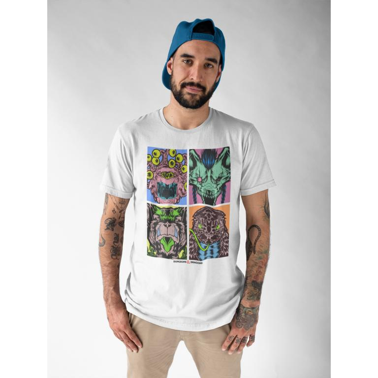 Dungeons and Dragons Monsters Warhol Print Mens T-Shirt