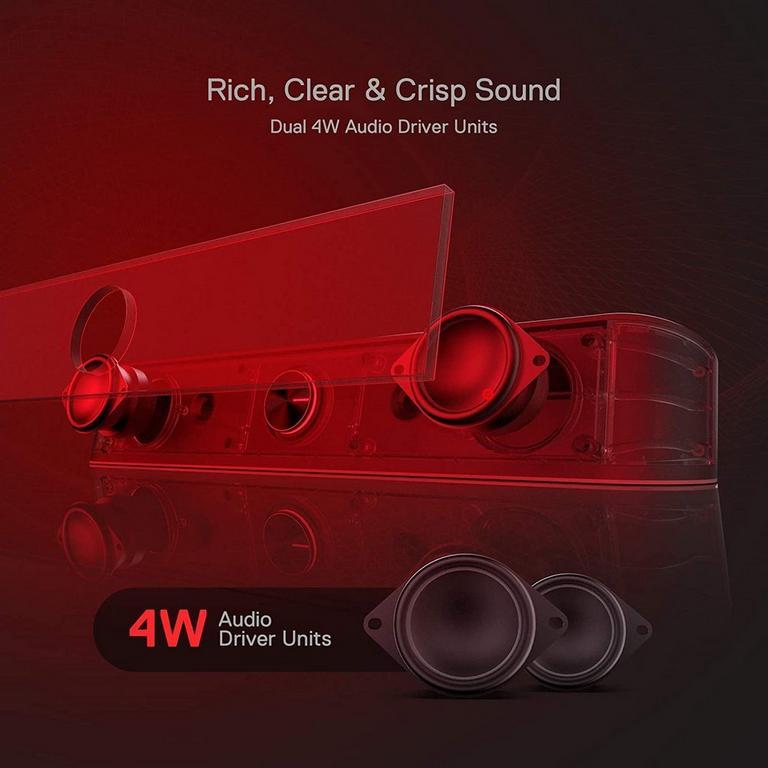 Redragon GS560 Adiemus 2.0 Channel RGB Backlight Desktop Soundbar with Dynamic Lighting Bar