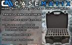 CASEMATIX Miniature Storage Hard Shell Case 80 Slot Figurine Carrying Case for Large Miniatures