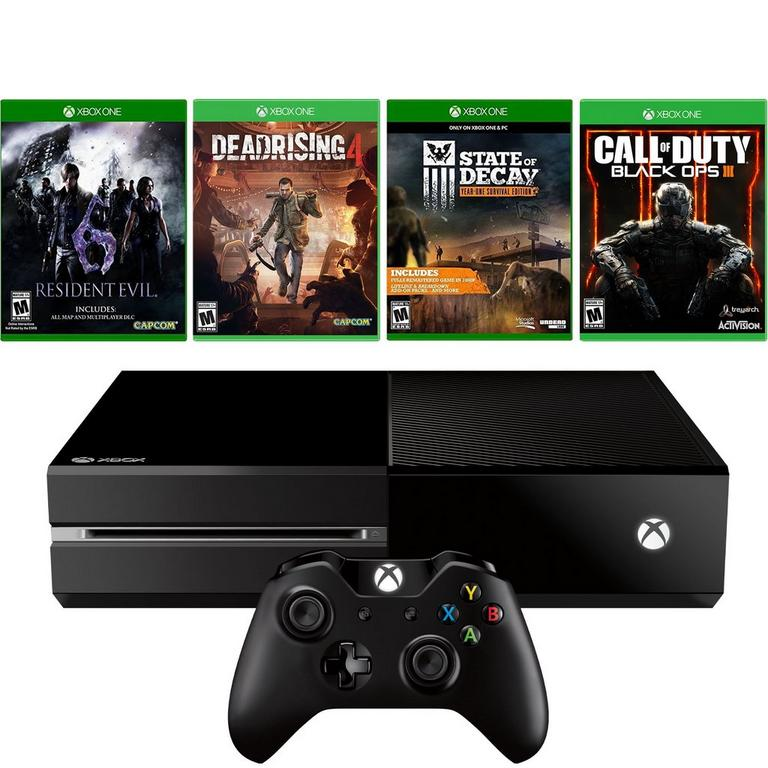 Xbox One Blast from the Past Zombie Fighters GameStop Premium Refurbished System Bundle