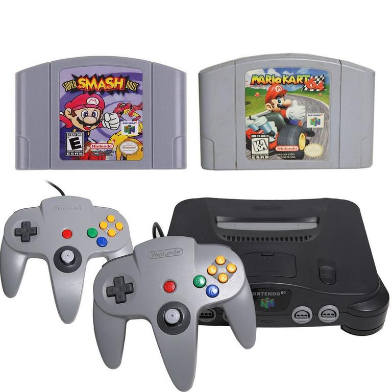 Nintendo 64 Multiplayer Blast from the Past System Bundle