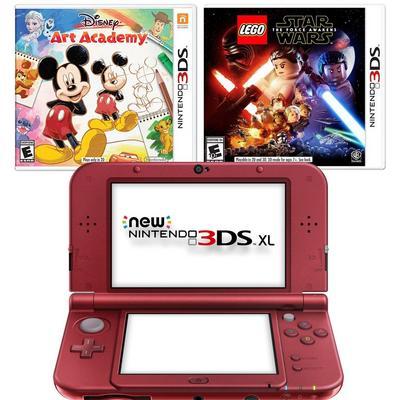 Nintendo New 3DS XL Red Blast from the Past Disney GameStop Premium Refurbished System Bundle
