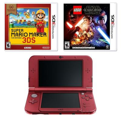 New Nintendo 3DS XL Red Blast from the Past Creator's GameStop Premium Refurbished System Bundle