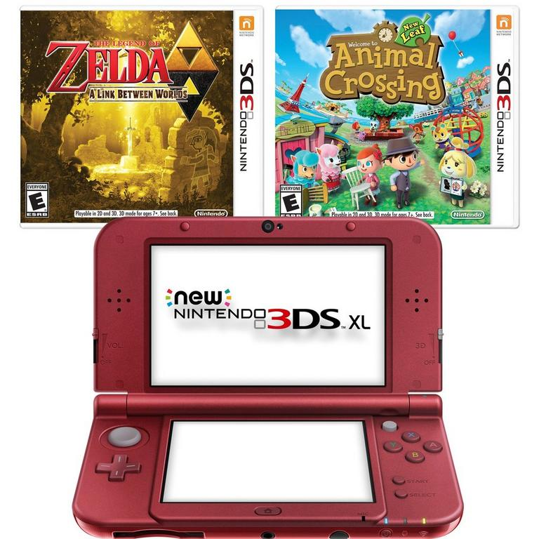 New Nintendo 3DS XL Classics Blast from the Past GameStop Premium Refurbished System Bundle