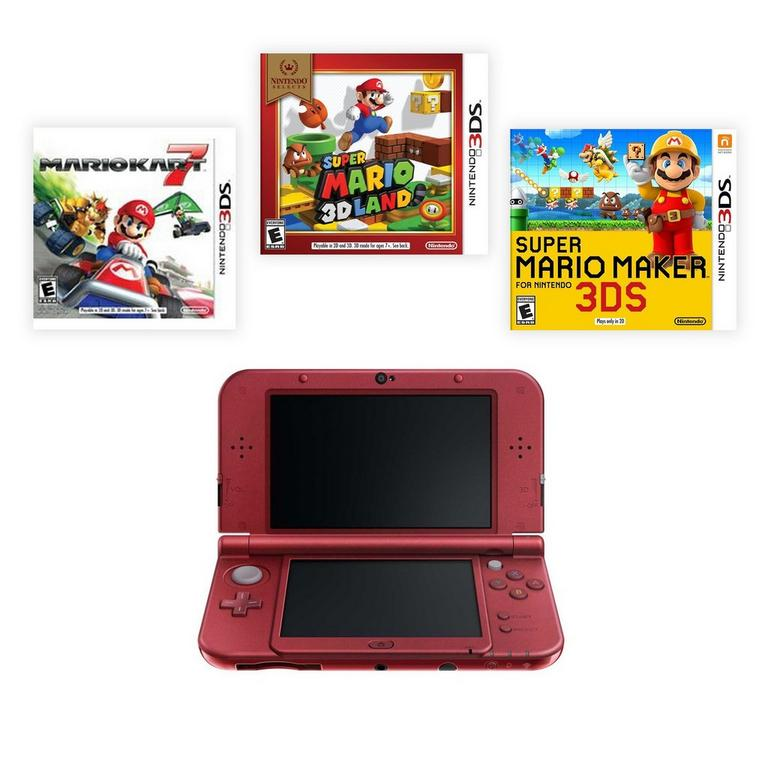 New Nintendo 3DS XL Mario Fan Blast from the Past Premium Refurbished System Bundle