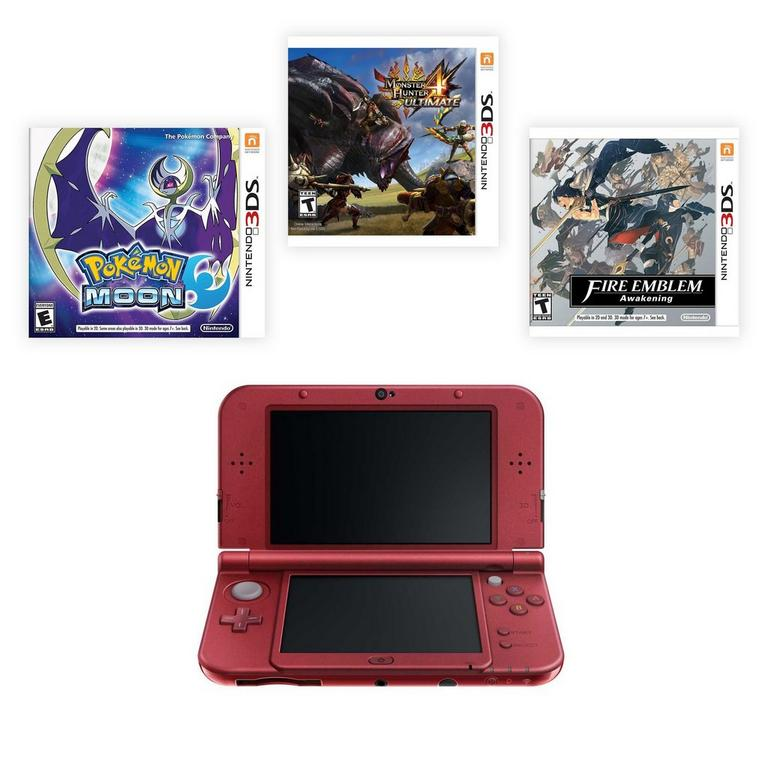 New Nintendo 3DS XL RPG Adventure Blast from the Past Premium Refurbished System Bundle