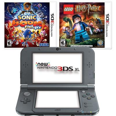 New Nintendo 3DS XL Black Blast from the Past Adventure GameStop Premium Refurbished System Bundle