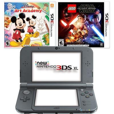 New Nintendo 3DS XL Black Blast from the Past Disney GameStop Premium Refurbished System Bundle