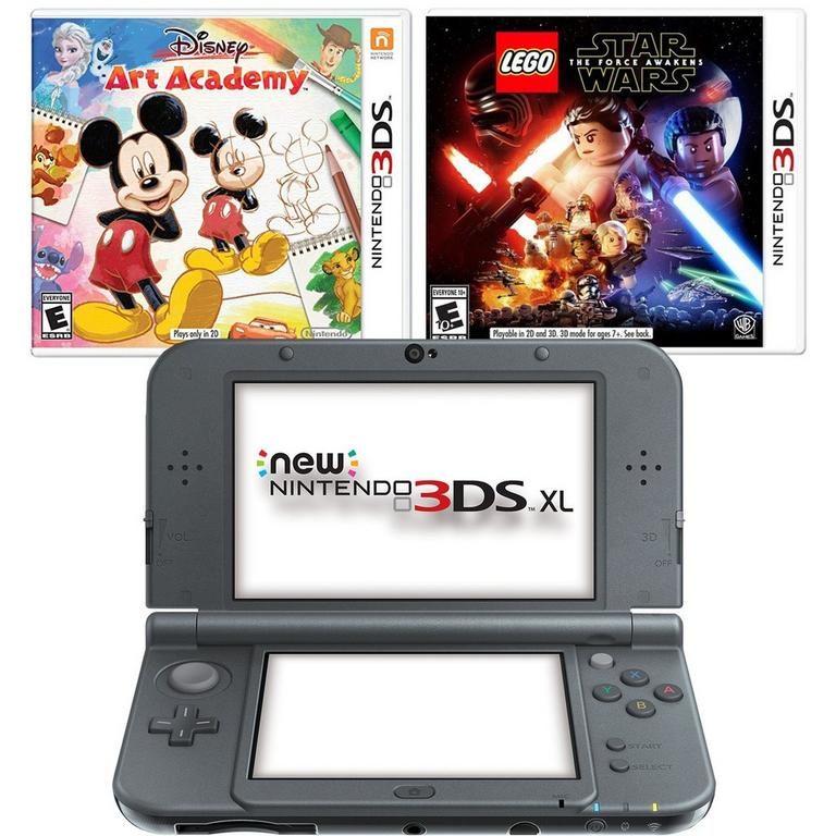 Nintendo NEW 3DS XL - Black Blast from the Past Disney System Bundle