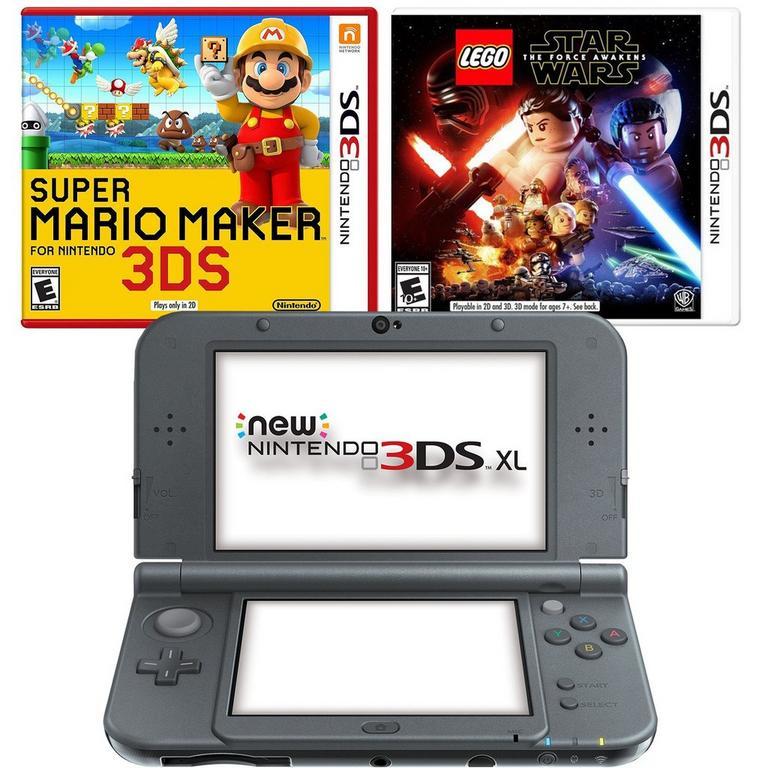Nintendo NEW 3DS XL - Black Blast from the Past Creator's Bundle