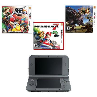 New 3DS XL - Black (2014 Version) Online Collection Blast from the Past System Bundle (GameStop Premium Refurbished)