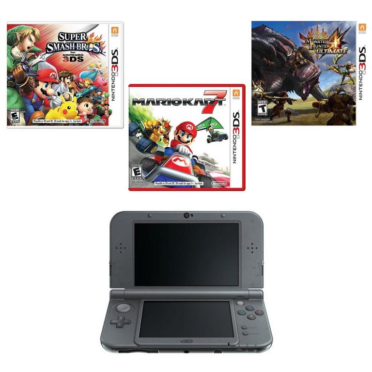 New Nintendo 3DS XL Black Online Collection Blast from the Past GameStop Premium Refurbished System Bundle
