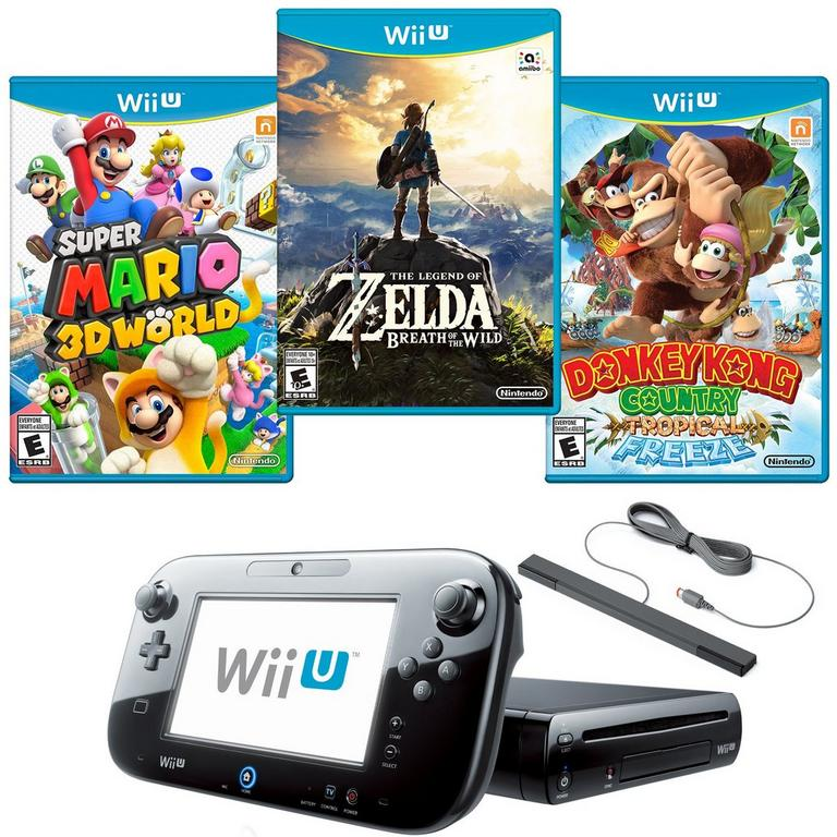Nintendo Wii U 32 GB Nintendo Heroes Blast from the Past Preowned System Bundle