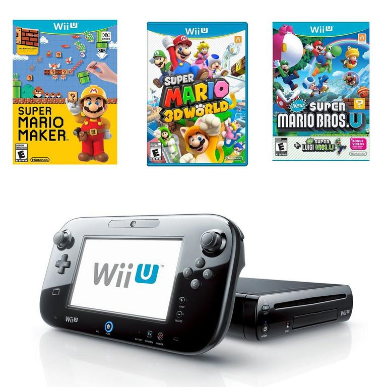 Wii U Super Mario Collection Blast from the Past System Bundle (Used)