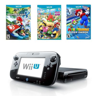 Nintendo Wii U 32 GB Competitive Mario Blast from the Past Preowned System Bundle