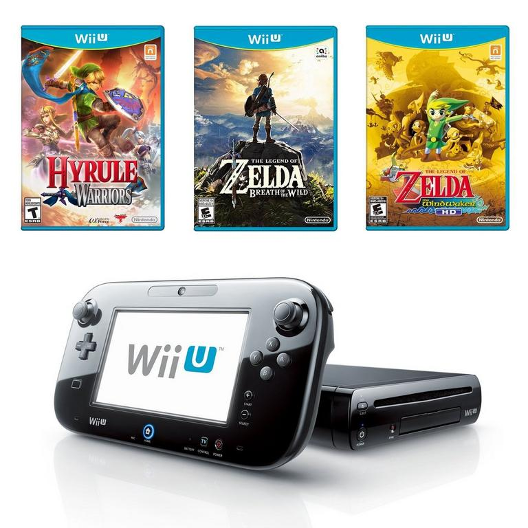 Nintendo Wii U 32 GB Zelda Collection Blast from the Past Preowned System Bundle