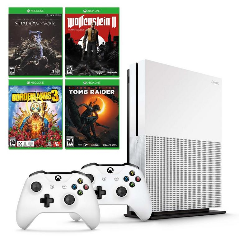 Xbox One S Single-Player Collection System Bundle (GameStop Refurbished)