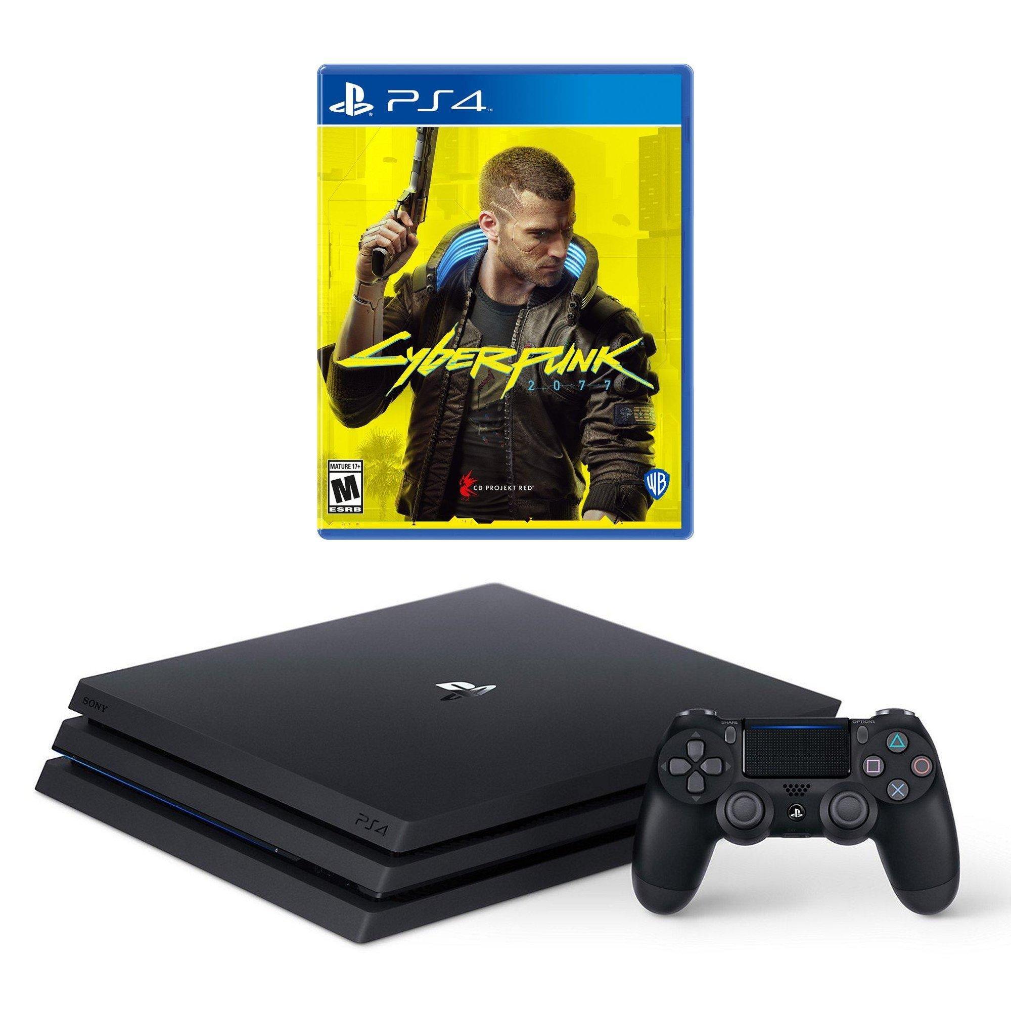 PlayStation 4 Pro and Cyberpunk 2077 System Bundle (GameStop Premium Refurbished)