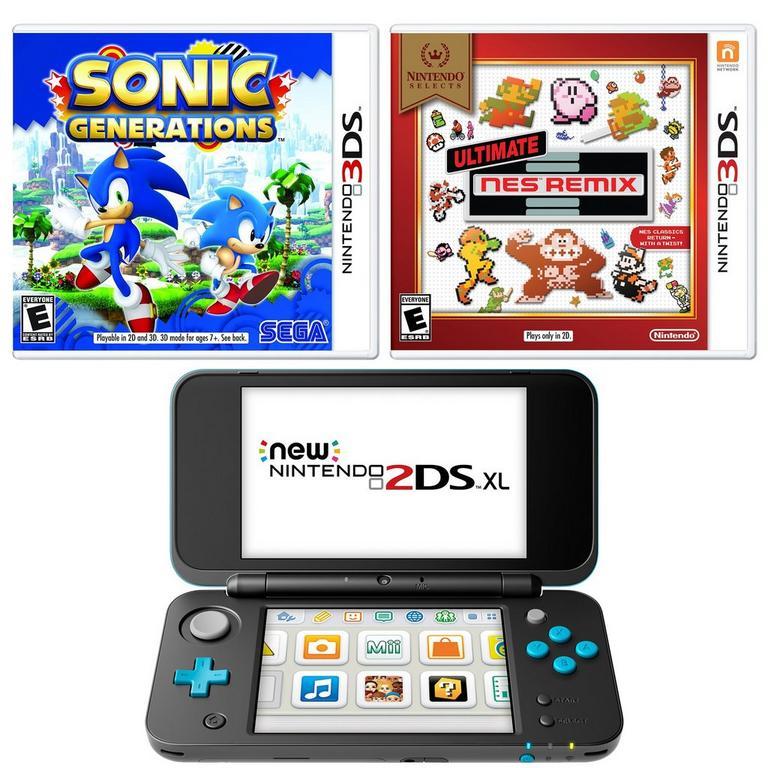 Nintendo 2DS XL Throwback Blast from the Past GameStop Premium Refurbished System Bundle