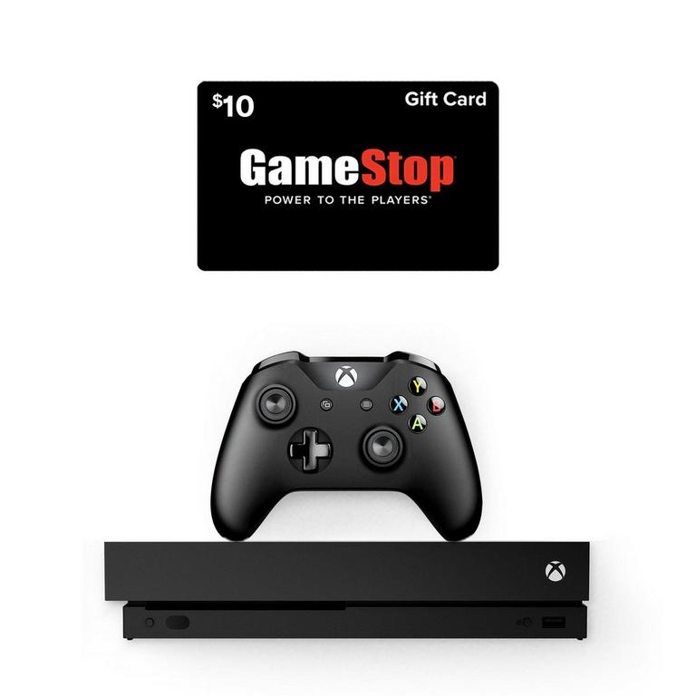 Xbox One X System and $10 GameStop Gift Card Bundle