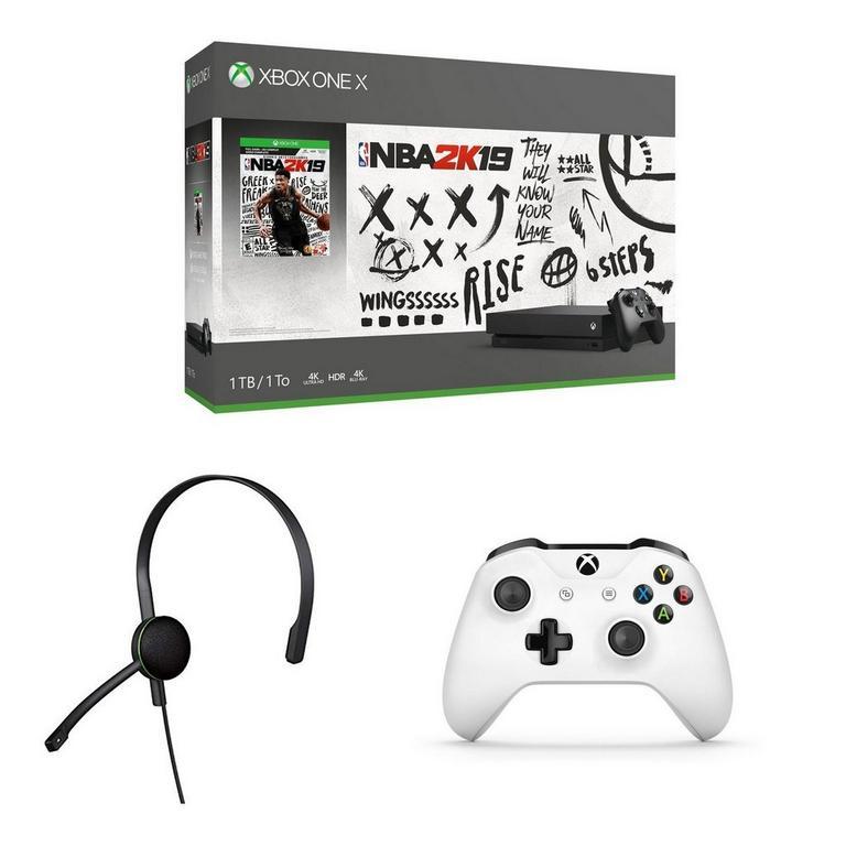 Xbox One X 1TB NBA 2K19 Bundle with Xbox Wireless Controller