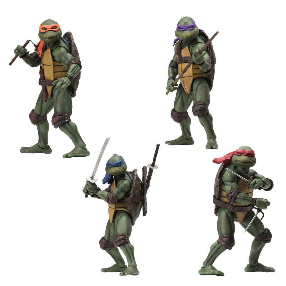 Teenage Mutant Ninja Turtles 90's Movie Action Figure Bundle