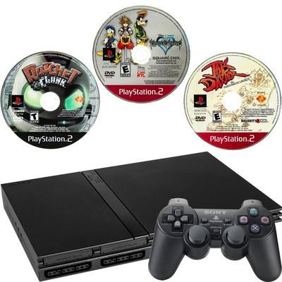 PlayStation 2 Slim Platformers Blast from the Past GameStop Premium Refurbished System Bundle