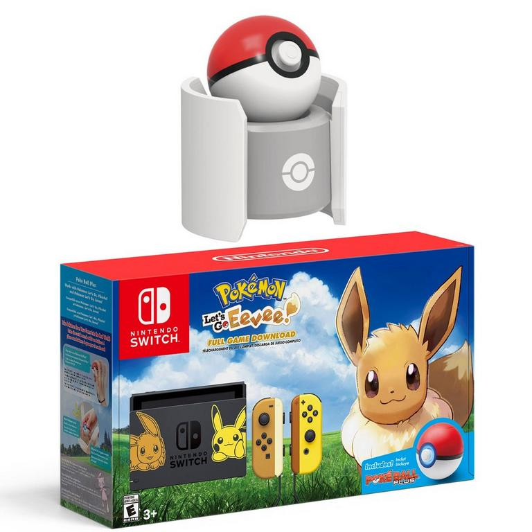 Nintendo Switch Pokemon Let's Go: Eevee! System and Pokeball Plus Charger Bundle