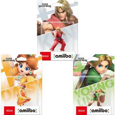 Ken, Young Link, Daisy Amiibo Figure Bundle
