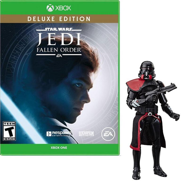 Star Wars Jedi: Fallen Order Deluxe Edition Xbox One and Black Series Figure Bundle - Only at GameStop