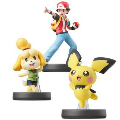 Pichu, Isabelle, and Pokemon Trainer SSB Amiibo Bundle