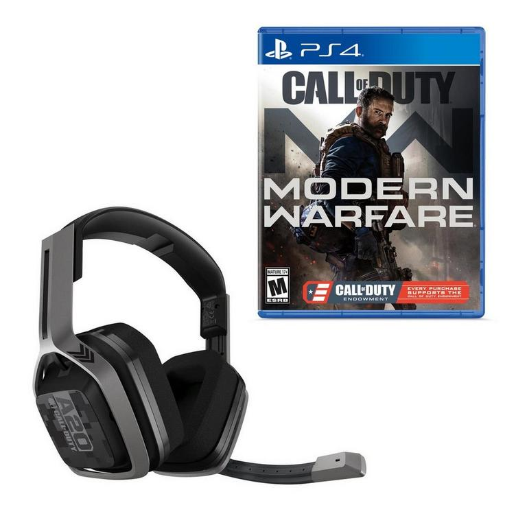 Call of Duty Modern Warfare C.O.D.E Edition with ASTRO A20 Wireless Headset PlayStation 4 Bundle