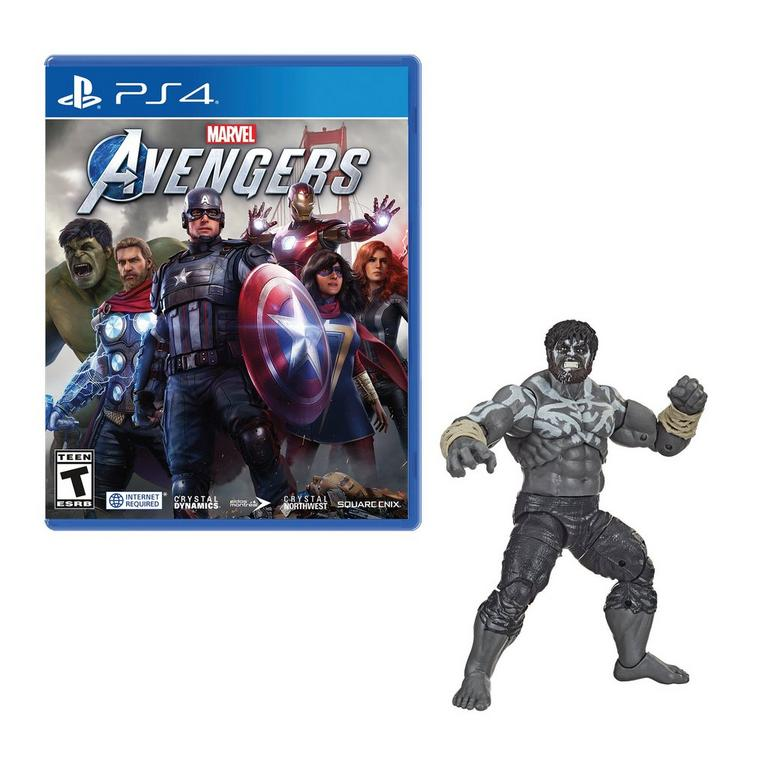 PlayStation 4 Marvel's Avengers and Hulk Figure - Only at GameStop