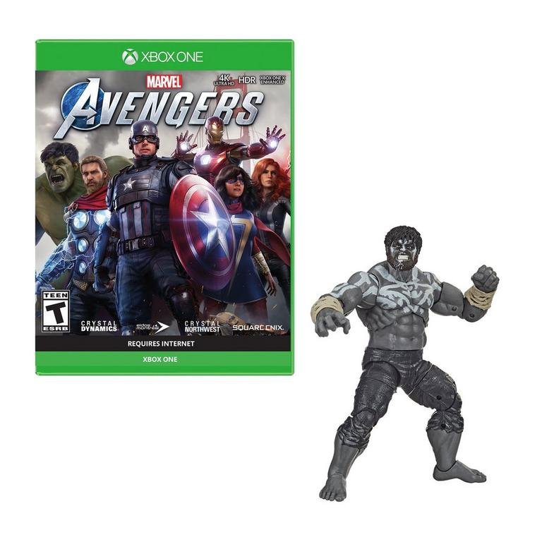 Xbox One Marvel's Avengers and Hulk Figure - Only at GameStop