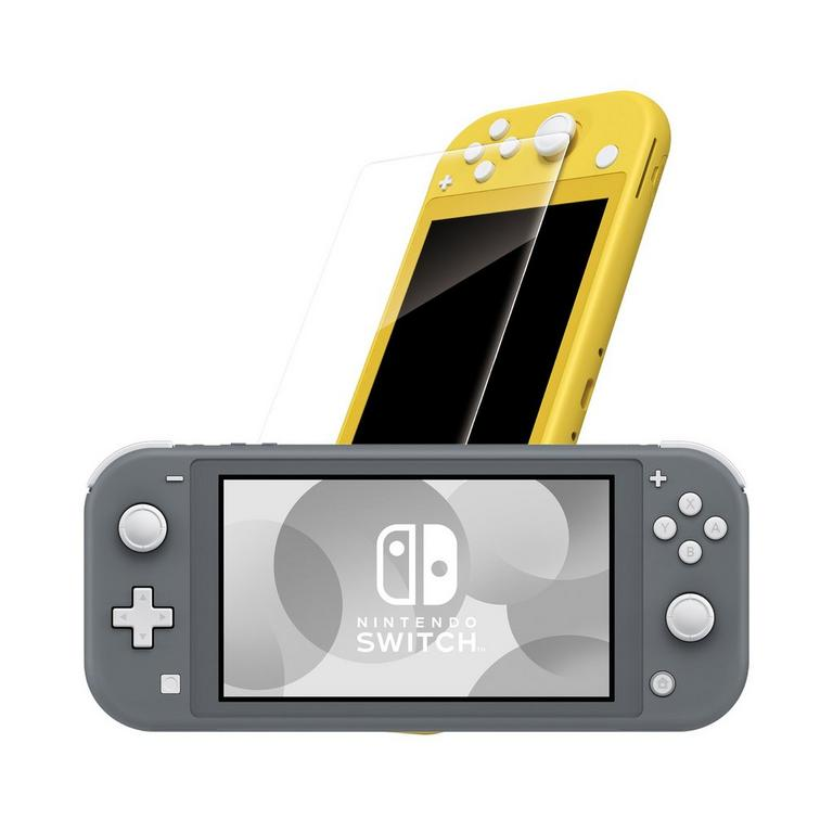 Nintendo Switch Lite Gray with Tempered Glass Screen Protector System Bundle