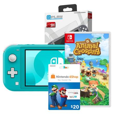 Nintendo Switch Lite Turquoise System Starter Bundle