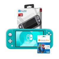 Deals on Nintendo Switch Lite Console + Protector + $20 Nintendo GC