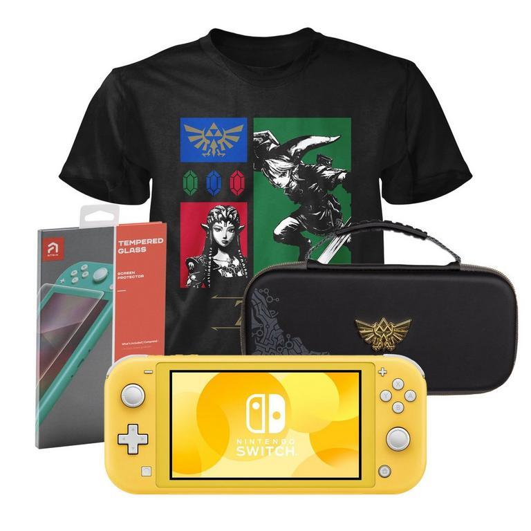 Nintendo Switch Lite Yellow Zelda Fan Starter System Bundle