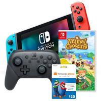Deals on Nintendo Switch with Neon Joy Cons Starter Bundle