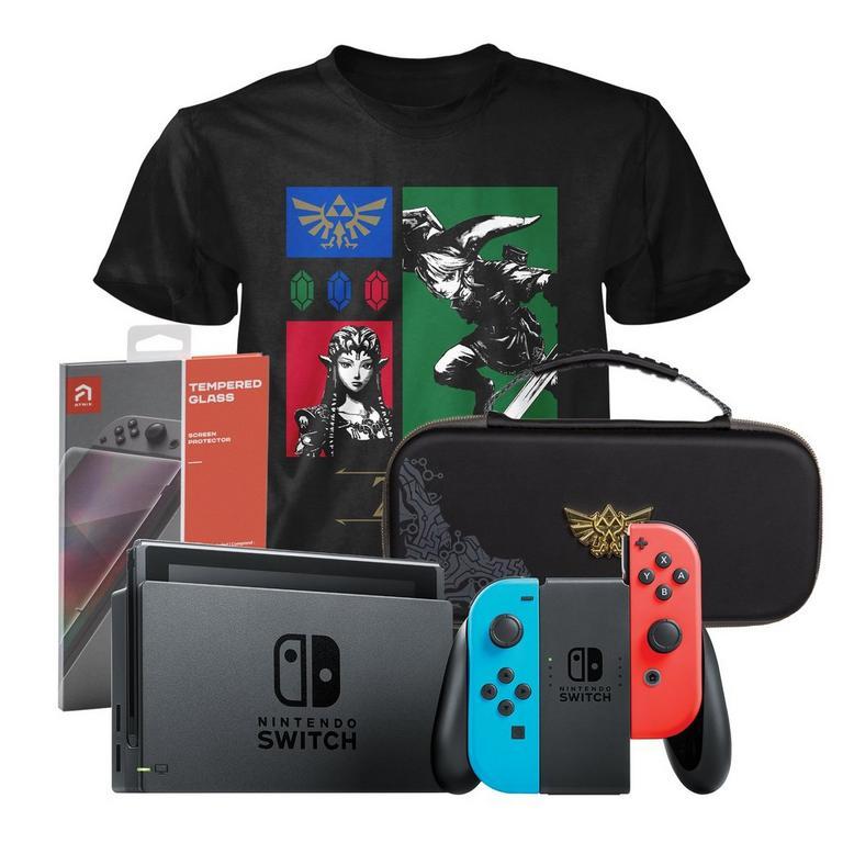 Nintendo Switch Neon Zelda Fan Starter System Bundle