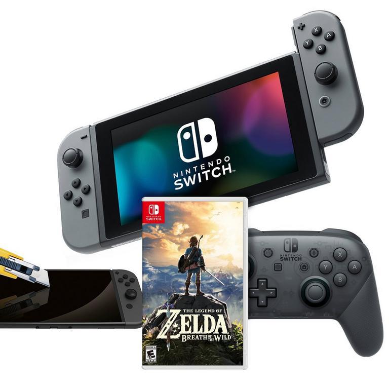 Nintendo Switch主機 + The Legend of Zelda 遊戲 + Wireless Pro Controller + Screen Protector $444.99免運