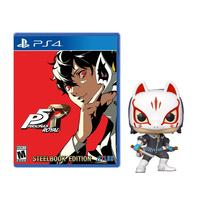 Persona 5 Royal Steel Book Launch Edition PS4 + Fox POP Figure