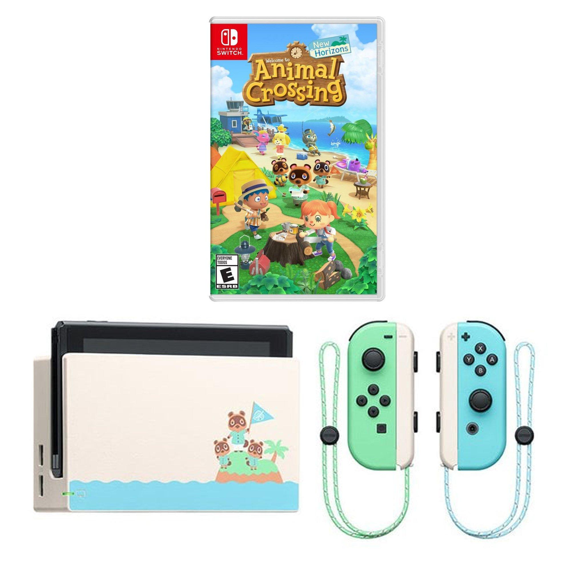Nintendo Switch Animal Crossing New Horizons Edition With Digital Animal Crossing New Horizons Bundle Nintendo Switch Gamestop