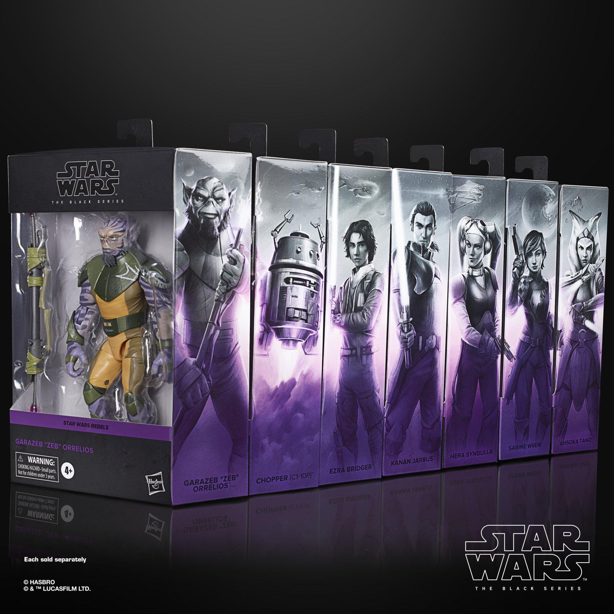 Star Wars Rebels The Black Series Deluxe Action Figure Bundle