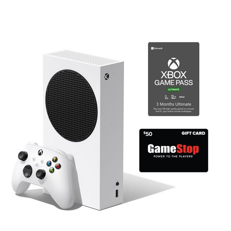 Xbox Series S Game Pass Ultimate System Bundle with $50 GameStop Gift Card