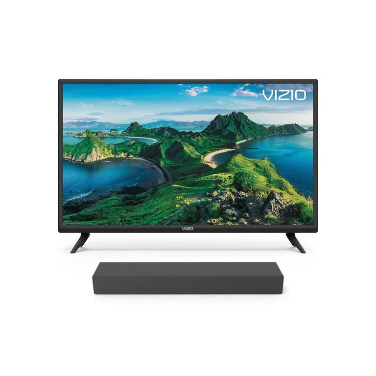 VIZIO D Series 32-inch TV and 2.0 Channel Sound Bar Bundle