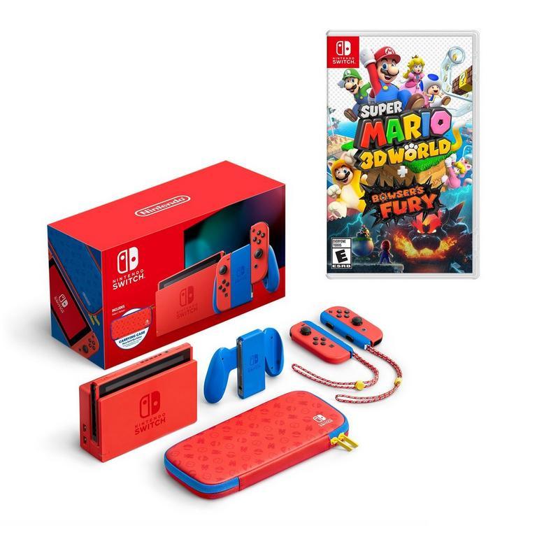 Nintendo Switch Mario Edition with Super Mario 3D World System Bundle